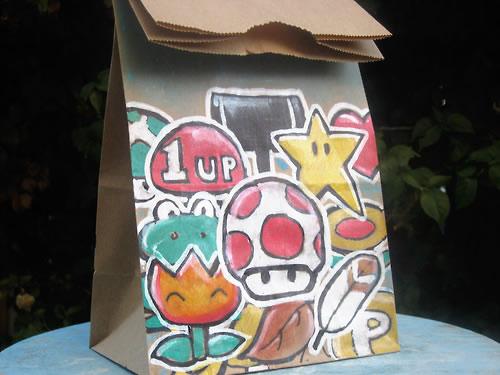 De beaux dessins sur des sacs en papier 5