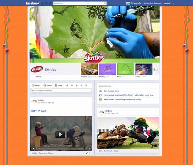 Les nouveaux profils des plus grandes marques présentes sur Facebook 4