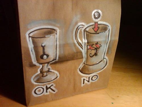 De beaux dessins sur des sacs en papier 9