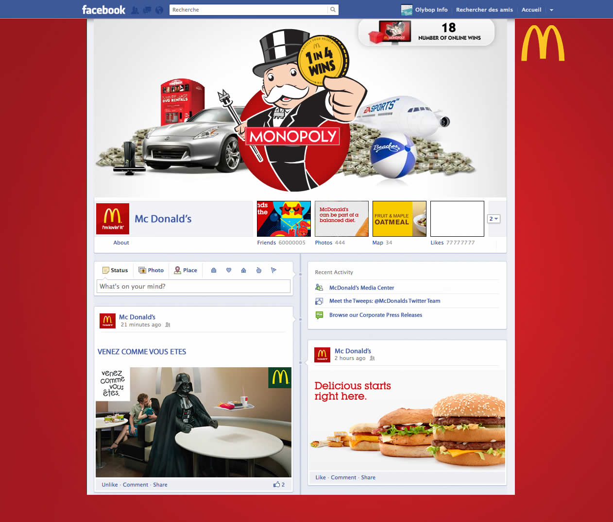 Les nouveaux profils des plus grandes marques présentes sur Facebook 8
