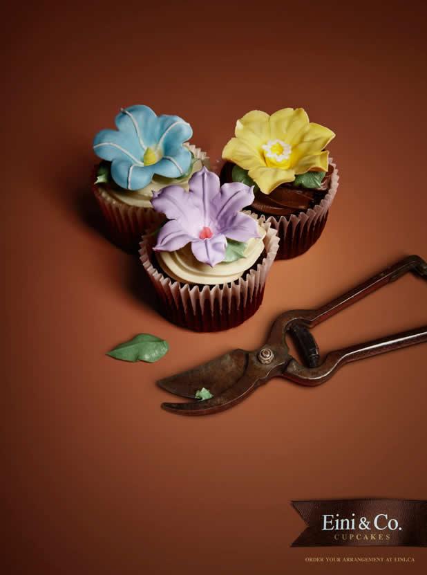 20+ publicités avec des cupcakes 12