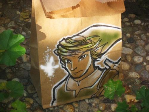 De beaux dessins sur des sacs en papier 12