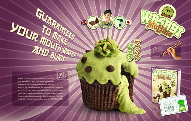 20+ publicités avec des cupcakes  2