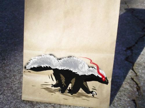 De beaux dessins sur des sacs en papier 27