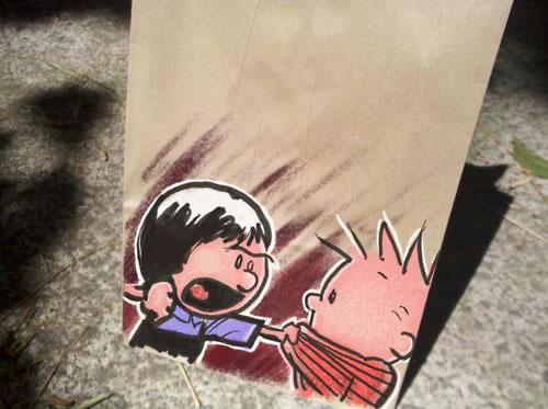De beaux dessins sur des sacs en papier 28