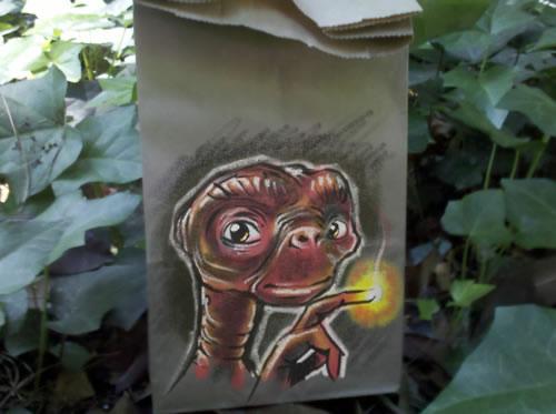 De beaux dessins sur des sacs en papier 29
