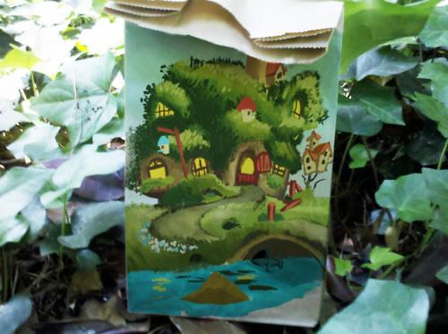 De beaux dessins sur des sacs en papier 30