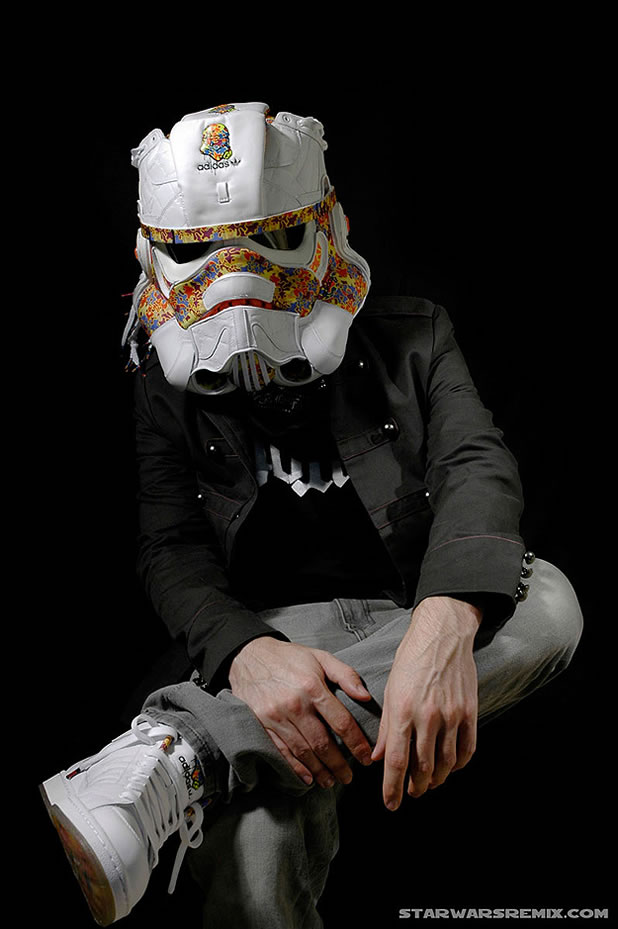 Un Casque Custom Design Stormtrooper Adidas 7