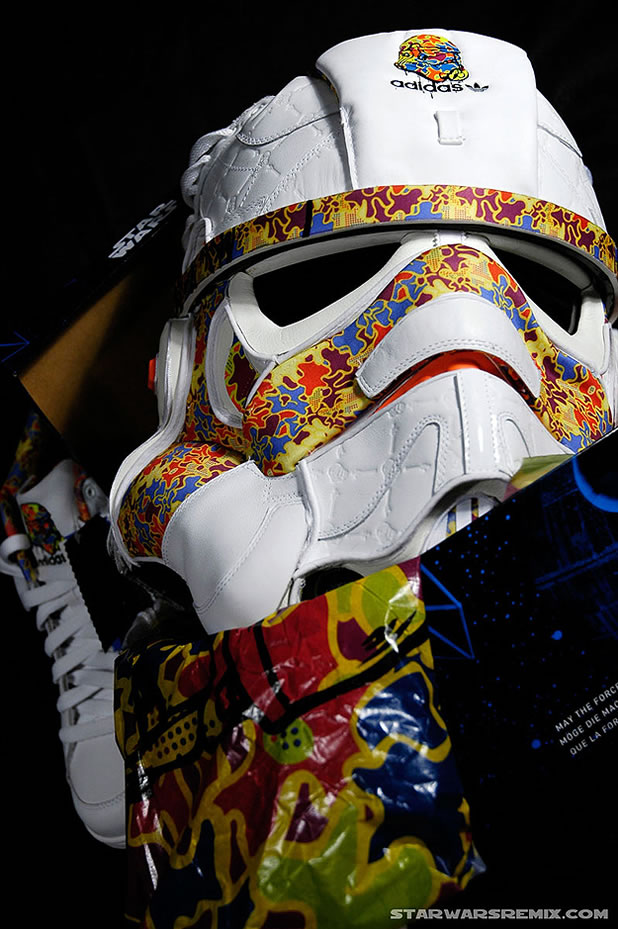 Un Casque Custom Design Stormtrooper Adidas 6