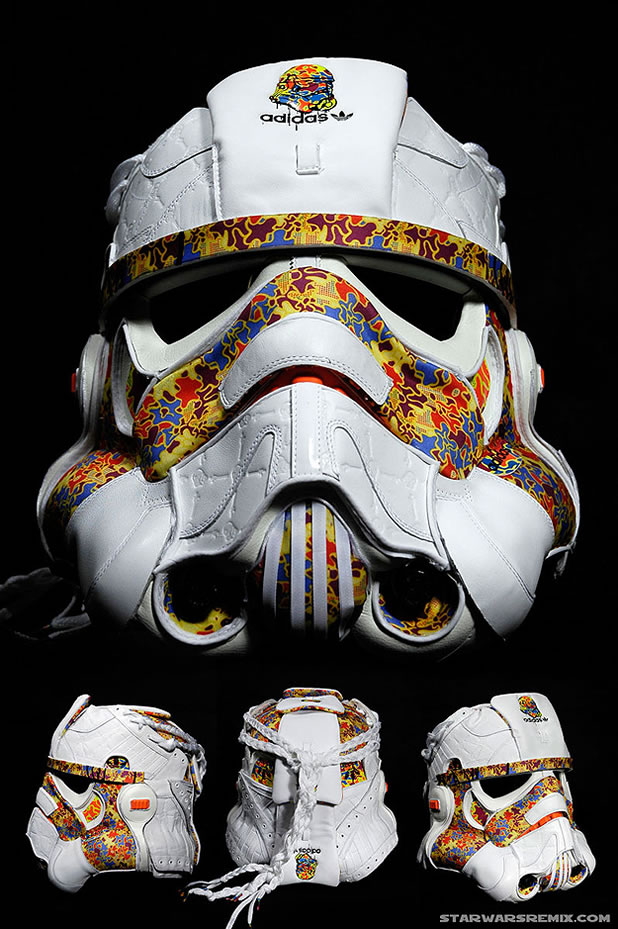 Un Casque Custom Design Stormtrooper Adidas 5