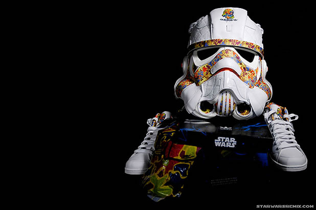 Un Casque Custom Design Stormtrooper Adidas 4