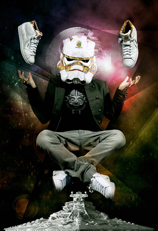 Un Casque Custom Design Stormtrooper Adidas 3