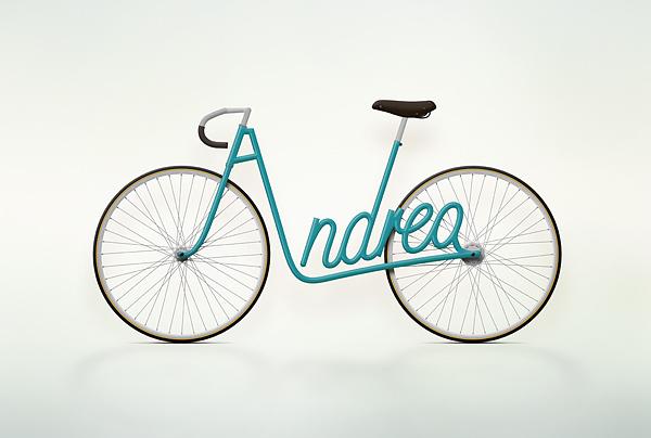 Write a Bike - Vélos typographiques 2
