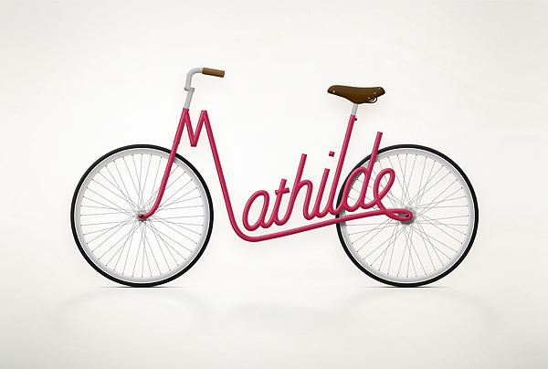 Write a Bike - Vélos typographiques 3