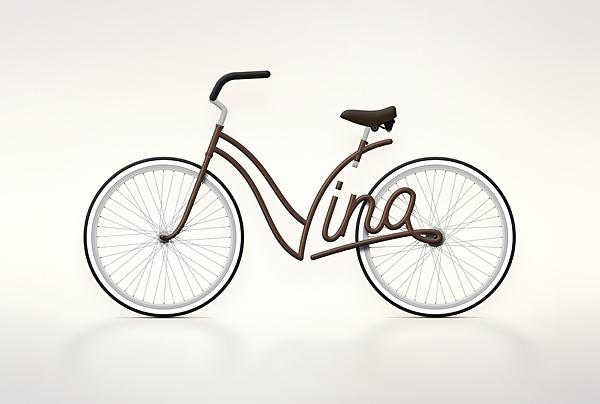 Write a Bike - Vélos typographiques 6