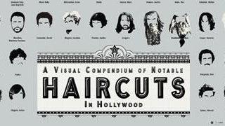 Infographie des coupes de cheveux d'Hollywood