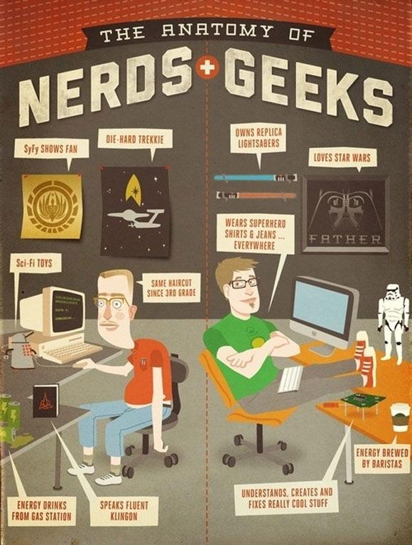 Infographie Geek Vs Nerd 2