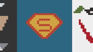 Posters minimalistes en Lego des super-heros