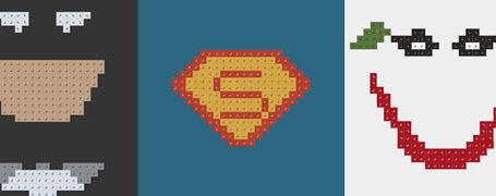 Posters minimalistes en Lego des super-heros  8