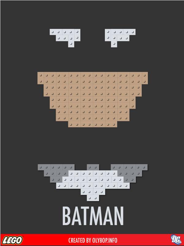 Posters minimalistes en Lego des super-heros  10