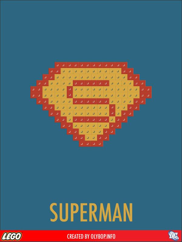 Posters minimalistes en Lego des super-heros  2