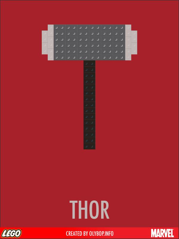 Posters minimalistes en Lego des super-heros  4