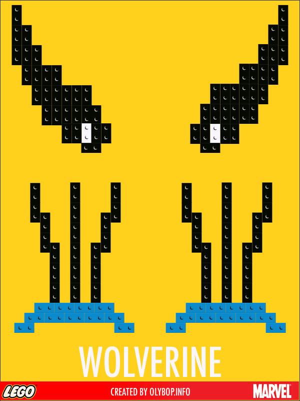 Posters minimalistes en Lego des super-heros  3