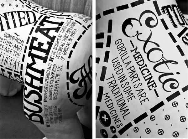 un Gorille typographique pour le 175ème anniversaire du Zoo de Bristol 12