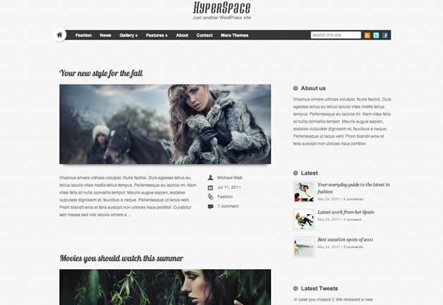 theme wordpress hyperspace