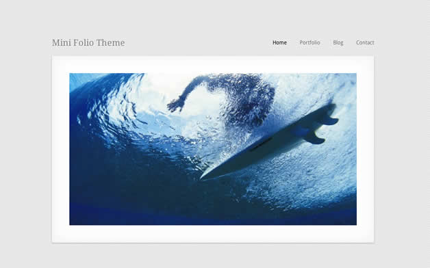 theme wordpress minifolio