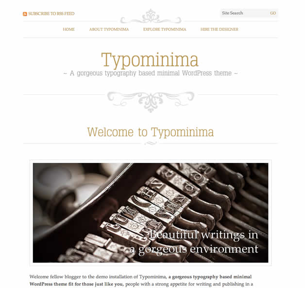 theme wordpress typonimina