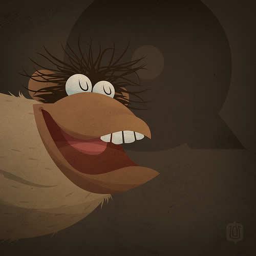 La typographie du Muppets Show - The muppabet 12