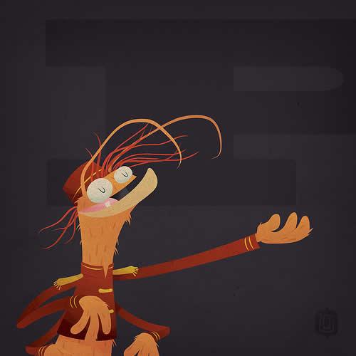 La typographie du Muppets Show - The muppabet 13