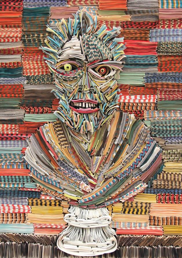 Les sculptures humaines créées avec des livres 3
