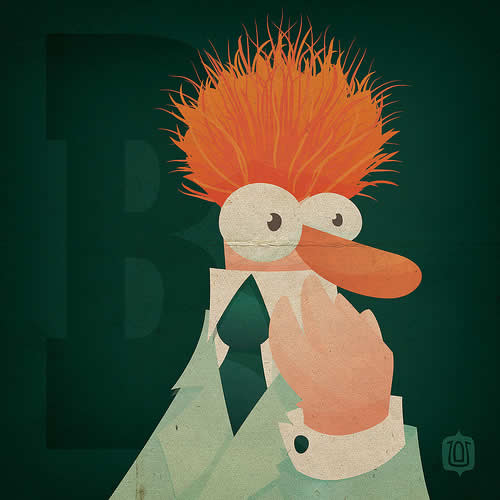 La typographie du Muppets Show - The muppabet 25