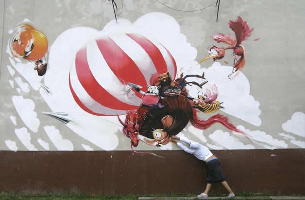 48 streetart vol7 50 street art fun et créatifs   vol 7