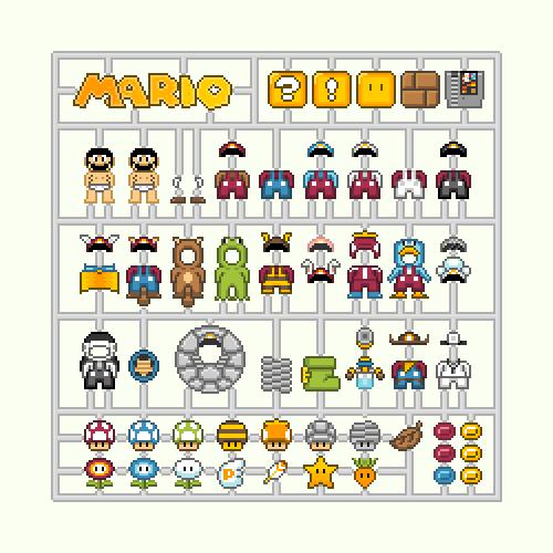 Les Kits d'habits 8Bit Nintendo - Mario, Zelda et Samus 3