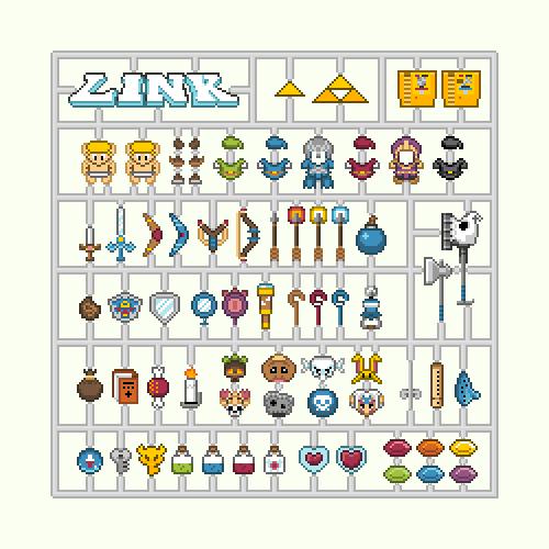 Les Kits d'habits 8Bit Nintendo - Mario, Zelda et Samus 4