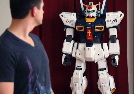 """Un Robot en papier de + de 2m de haut - """"7FT Gundam""""(style Goldorak) 8"""