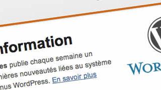 Newsletter WordPress pour la communauté française