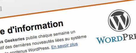 Newsletter WordPress pour la communauté française 1