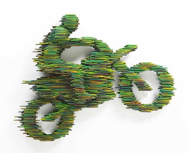 Sculptures à base de tubes de Duck-Bong 10