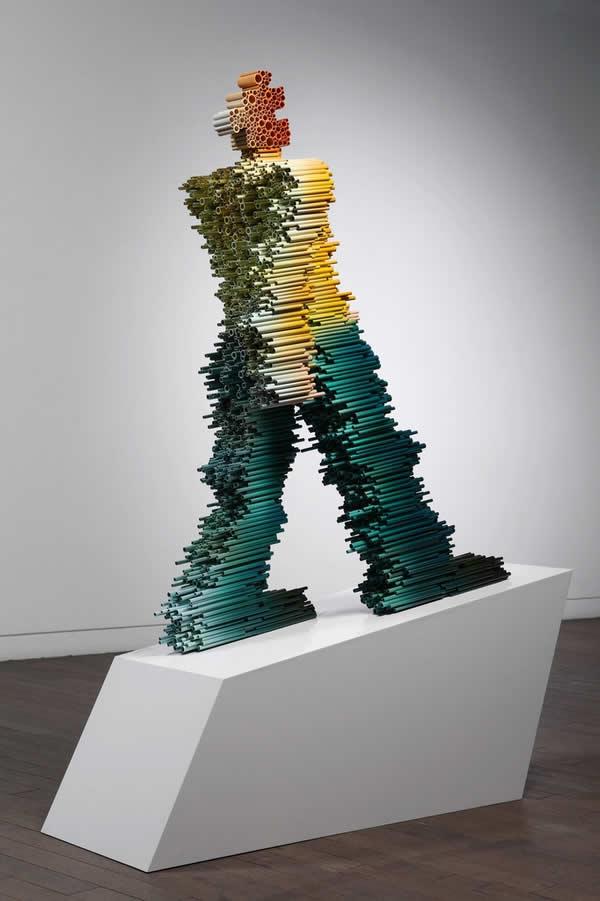 Sculptures à base de tubes de Duck-Bong 9