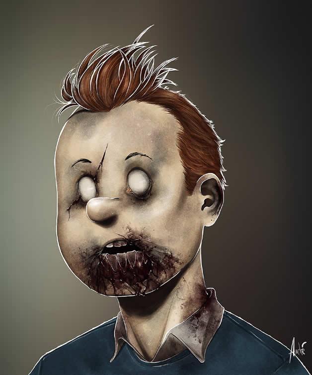 Les portraits Zombies de personnages célèbres 4