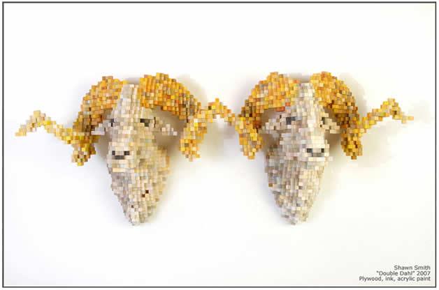 Les animaux en pixels 3D de Shawn Smith 9