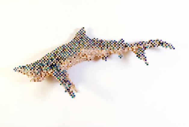 Les animaux en pixels 3D de Shawn Smith 8