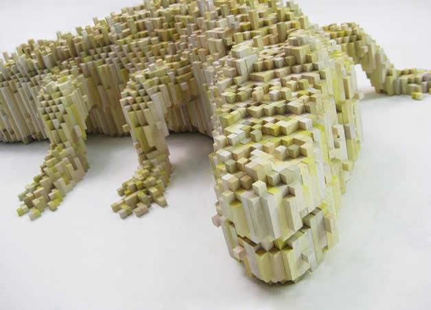 Les animaux en pixels 3D de Shawn Smith 2
