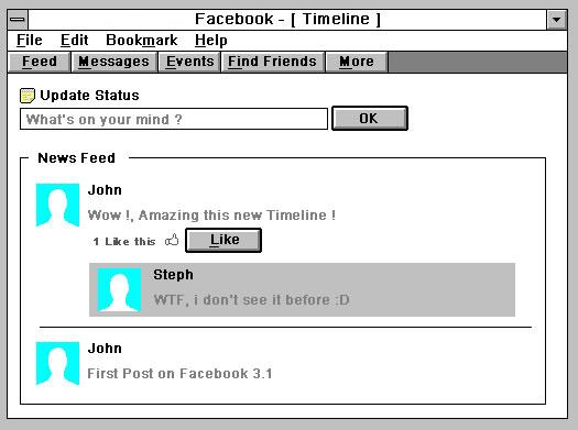 Et si nos réseaux sociaux étaient sur Windows 3.1 ? 3