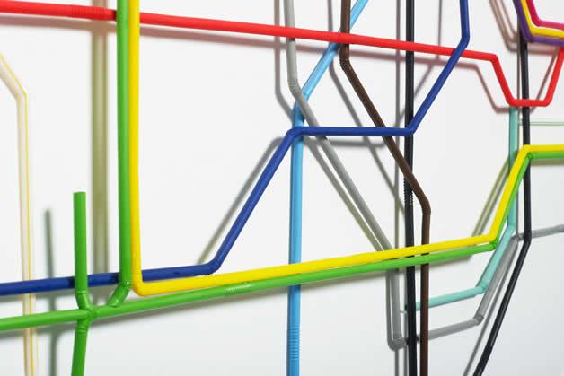 Plan du Metro de Londres en Pailles 6