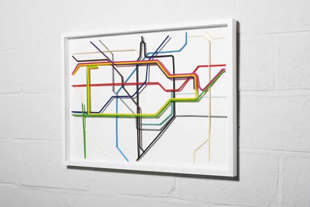 Plan du Metro de Londres en Pailles 5